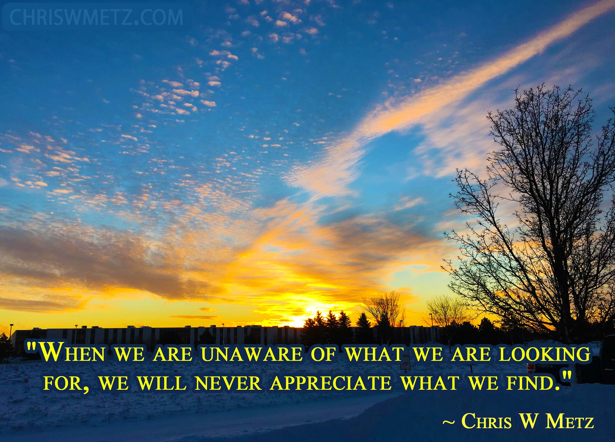 Being Present Mindfulness Quote 5 CWM Chris W Metz