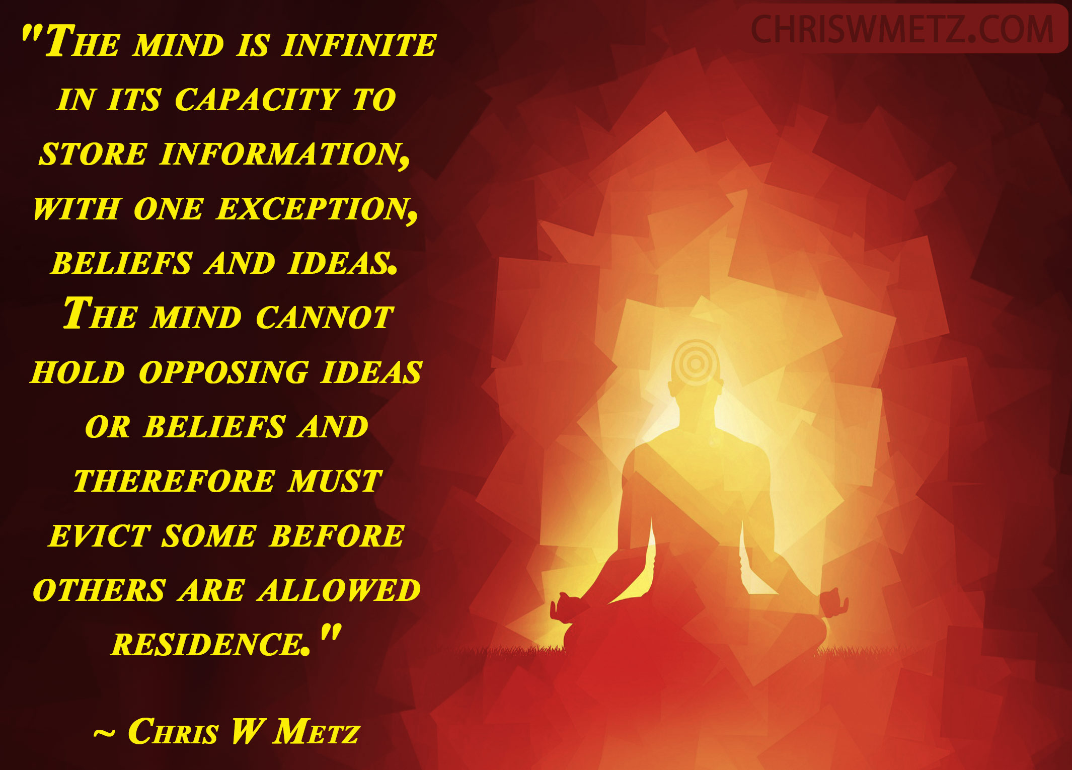 Beliefs Quote 12 Chris W Metz Finding Peace by letting go of old ideas and beliefs