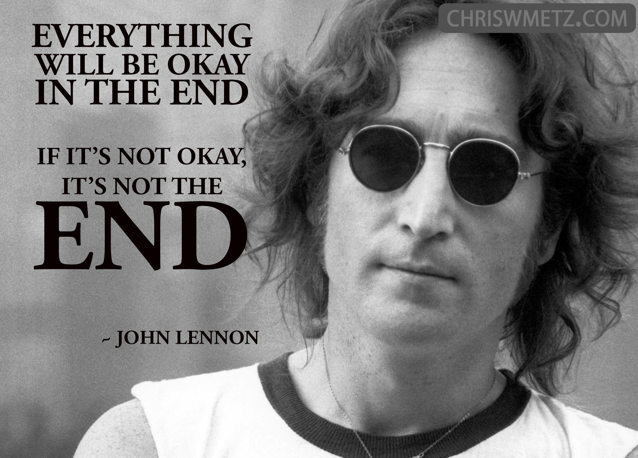 Fear Quote 12 John Lennon 12 8 1980 Chris W Metz