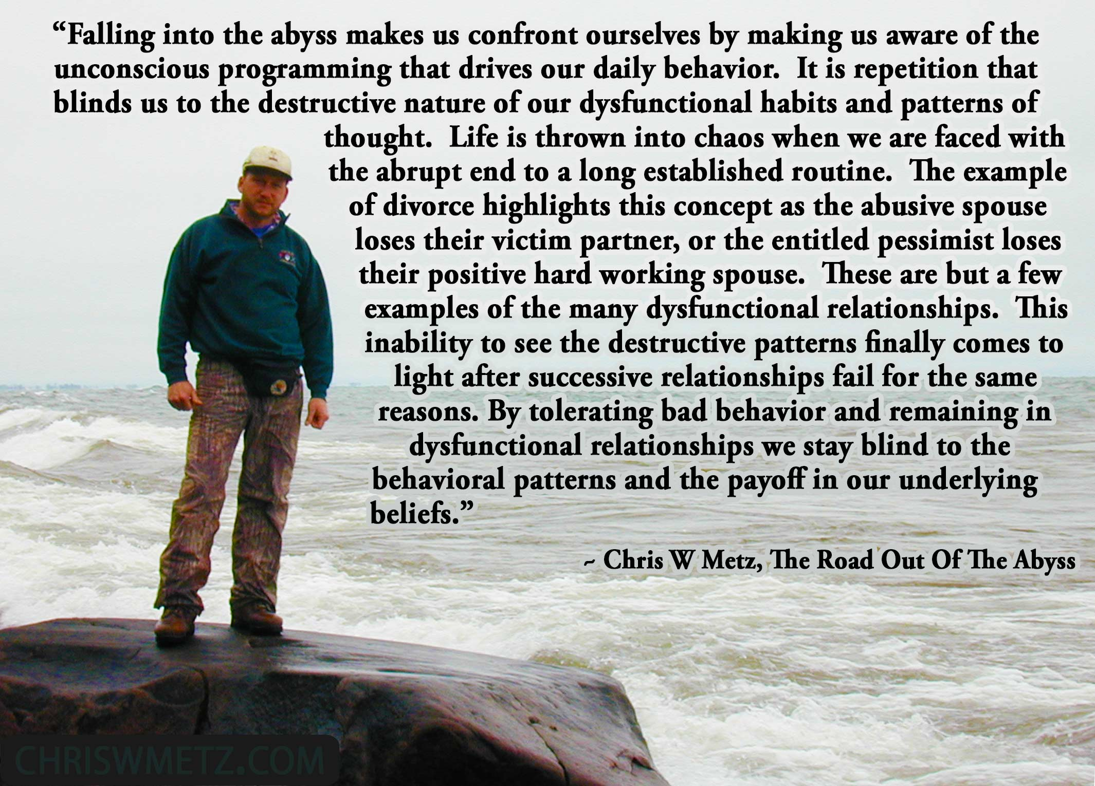 self awareness quote 17 chris w metz the road out of the abyss