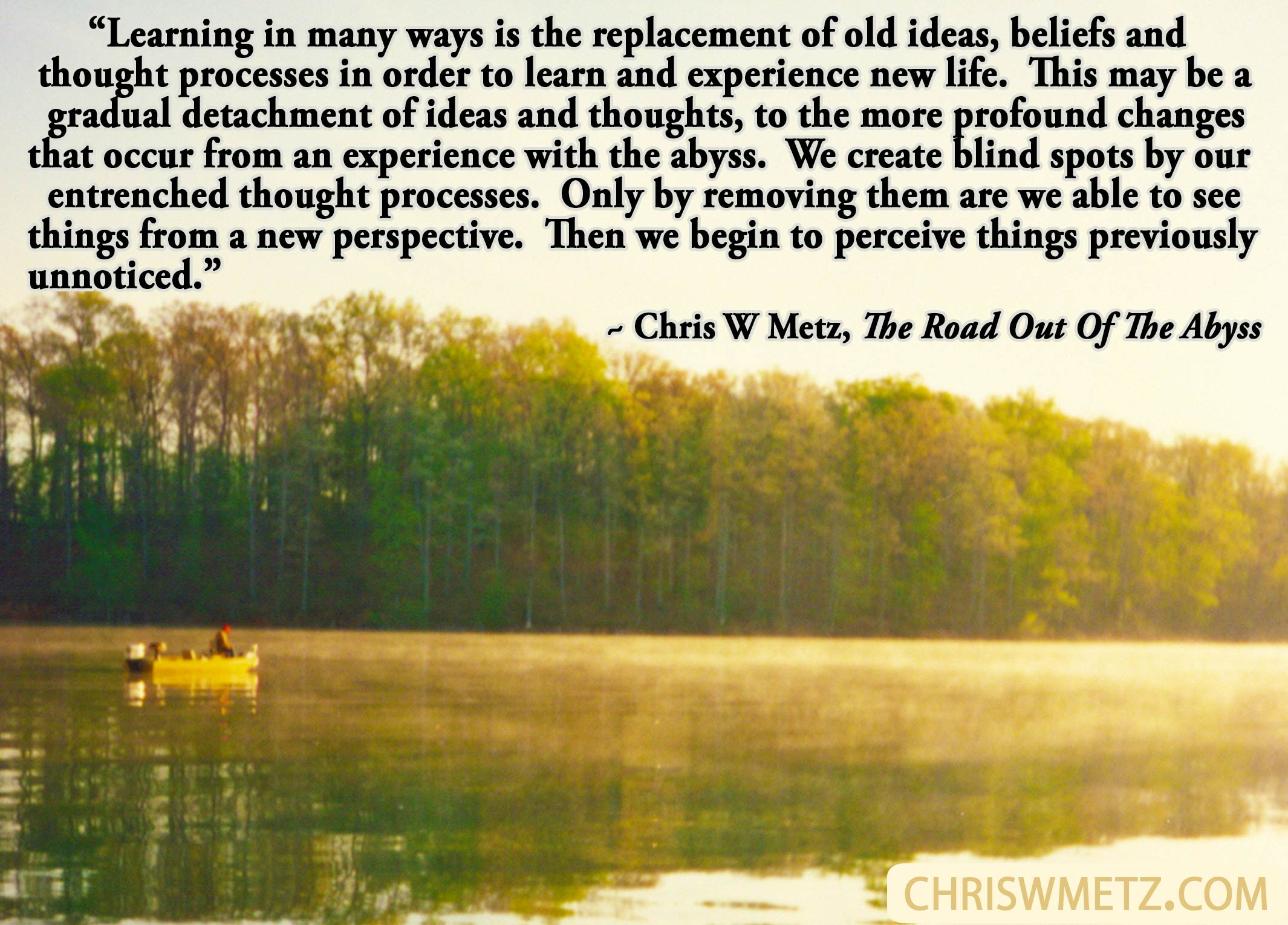 self awareness quote 18 chris w metz the road out of the. Black Bedroom Furniture Sets. Home Design Ideas