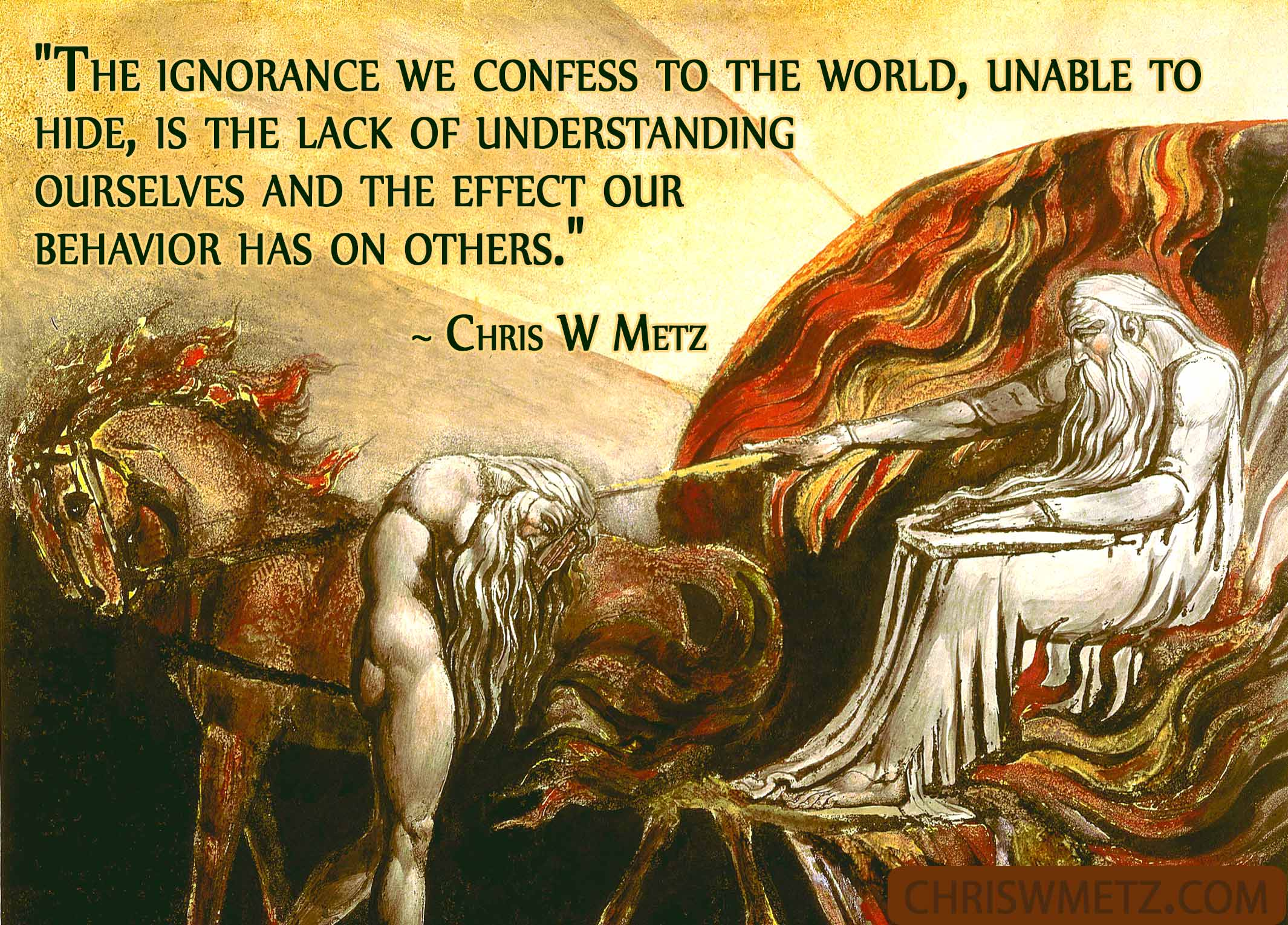 Self Awareness Quote 22 Chris W Metz understanding consciousness