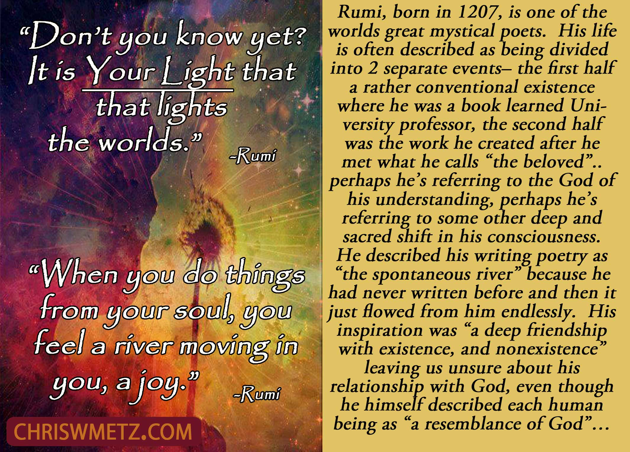 Soul Quote 4 Rumi Chris W Metz