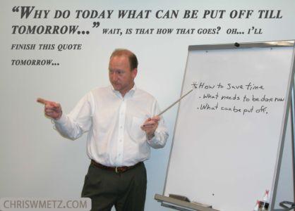 funny procrastination quote