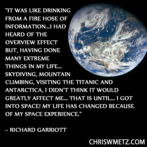 Astronaut Quote 4 Richard Garriot chriswmetz.com