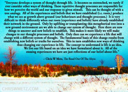 Beliefs Quote 4 Chris W Metz - The Road Out Of The Abyss chriswmetz.com