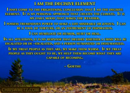 Character Quote 4 Decisive Element Goethe chriswmentz.com