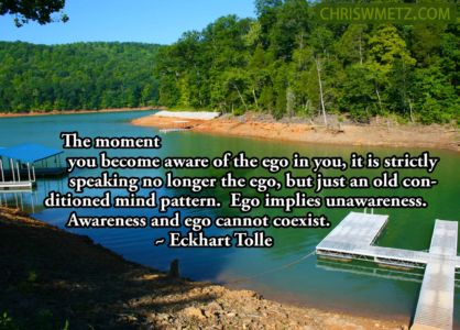 Ego Quote10 Awareness and ego cannot coexist Eckhart Tolle