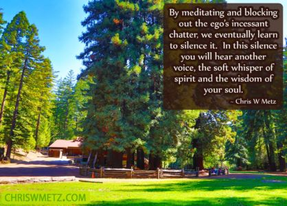 Quote Silence the ego through meditation and hear your soul spirit