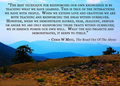 Ego Quote 25 Chris Metz - The Road Out Of The Abyss chriswmetz.com