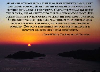 Ego Quote 3 Chris Metz - The Road Out Of The Abyss chriswmetz.com