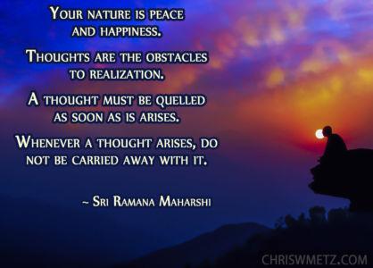 Enlightenment Quote 20 Ramana Maharshi chriswmetz.com