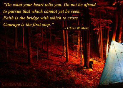 Faith Quote 1 Chris W Metz - The Road Out Of The Abyss