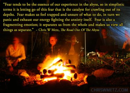 Fear Quote 1 Chris Metz - The Road Out Of The Abyss chriswmetz.com