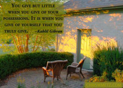 Giving Quote 1 Khalil Gilbran chriswmetz.com