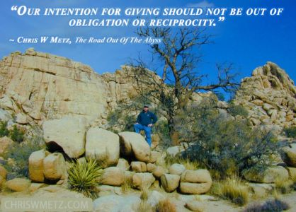 Giving Quote 7 Chris Metz - The Road Out Of The Abyss chriswmetz.com