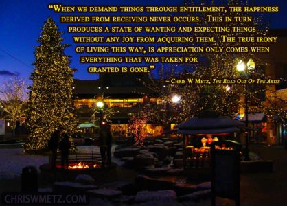 Gratitude Quote 14 Chris Metz - The Road Out Of The Abyss chriswmetz.com