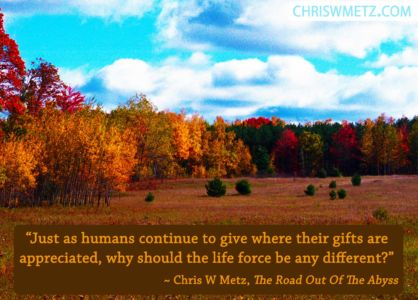 Gratitude Quote 8 Chris Metz - The Road Out Of The Abyss chriswmetz.com