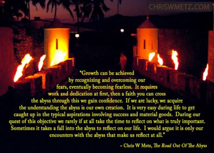 Growth Quote 1 Chris Metz - The Road Out Of The Abyss chriswmetz.com
