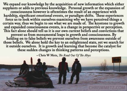 Growth Quote 4 Chris Metz - The Road Out Of The Abyss chriswmetz.com