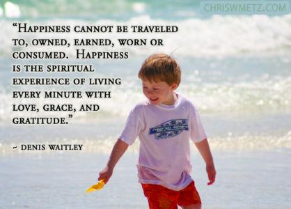 Happiness Quote 1 Denis Waitley chriswmetz.com