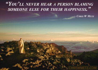 Happiness Quote 25 Chris Metz chriswmetz.com