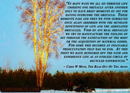 Life Quote 23 Chris Metz - The Road Out Of The Abyss chriswmetz.com