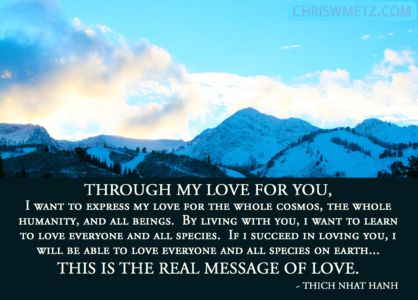 Love Quote 22 Thich Nhat Hanh chriswmetz.com