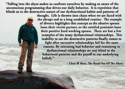 Self Awareness Quote 17 Chris Metz - The Road Out Of The Abyss chriswmetz.com
