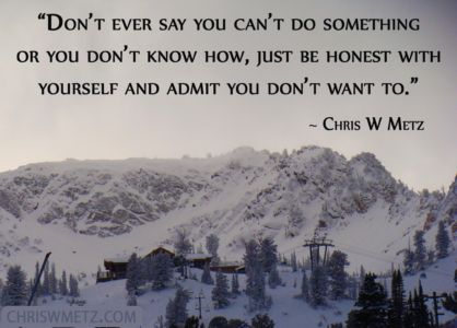 Self Awareness Quote 20 Chris Metz chriswmetz.com Laziness