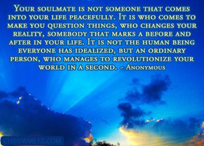 Soulmate Quote 7 Anonymous chriswmetz.com