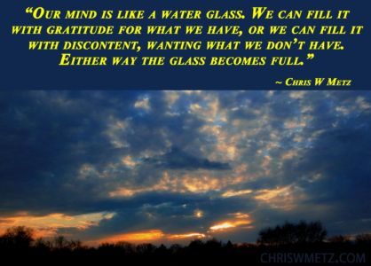 Wisdom Quote water glass analogy 23 Chris W Metz