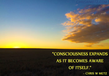 Consciousness expands awareness